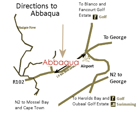 Abbaqua Self-Catering Accommodation Location
